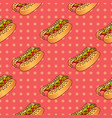 food seamless pop pattern with hot dog for vector image vector image