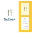 fork and spoon creative logo and business card vector image vector image