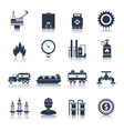 Gas Icons Black vector image vector image