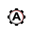 Gear solution logo letter a