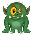 Green monster cartoon vector image vector image