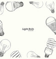 hand drawn of the light bulb vector image vector image