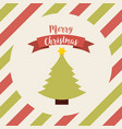 happy merry christmas card icon vector image