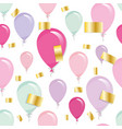 holiday seamless pattern background with balloons vector image vector image