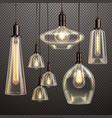 light bulbs realistic transparent vector image