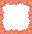lotus flower frame vector image