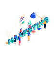 marketing concept - modern colorful isometric vector image