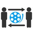 men video exchange icon vector image vector image