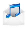 music mail vector image