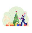 new year corporate party happy businessman joyful vector image vector image