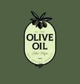 olive oil logo label food product design engraving vector image vector image