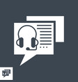 online consulting glyph icon vector image vector image