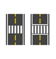 Pedestrian crossing on road vector image vector image