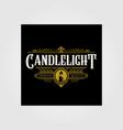 premium vintage candle light flame line art logo vector image