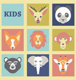 seamless pattern of color animals vector image vector image