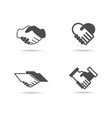 shake hand icons vector image vector image