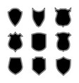 shield shapes crest and badge security set