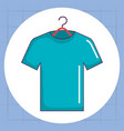 shirt hanging laundry service vector image vector image
