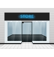 Shop front or store view vector image vector image