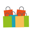 shopping bags concept vector image