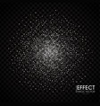 silver particles abstract magic dust on vector image vector image