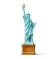 statue of liberty monument in america vector image vector image