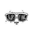 surfing logo hand drawn design element with vector image vector image