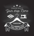 tailor shop badge concept for print vector image vector image