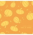 Thanksgiving golden pumpkins frame corner pattern vector image