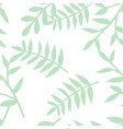 tile tropical pattern with green exotic leaves vector image vector image