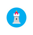 tower castle - concept colored icon in flat graph vector image