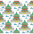 traditional asian chinese house seamless pattern vector image vector image