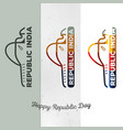 trendy collection logos indian vector image