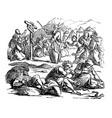 vintage drawing biblical story israelites vector image vector image