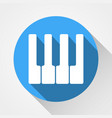 white piano keys icon white piano keys icon vector image vector image