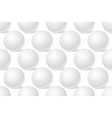 white sphere mockup 3d template seamless pattern vector image