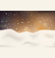winter christmas blurred background with shiny vector image