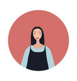 young asian woman with black hair looks stylish vector image