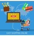 Banner - easy methods online shopping vector image