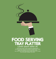 Food Serving Tray Platter vector image