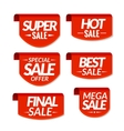 Sale tags labels Special offer hot sale special vector image