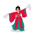 Eastern Dancer Isolated Folk Dance Concept vector image