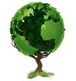 globe world tree concept vector image