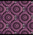 3d meander greek key seamless pattern vector image