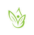 abstract icon nature care symbol vector image vector image