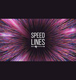 abstract speed lines motion effect motion vector image vector image