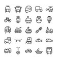 automobile line icons 1 vector image vector image