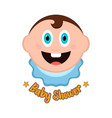 baby shower label with a baby vector image vector image