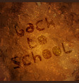 back to school stone age background vector image