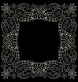 bandana paisley design- classic print square vector image vector image